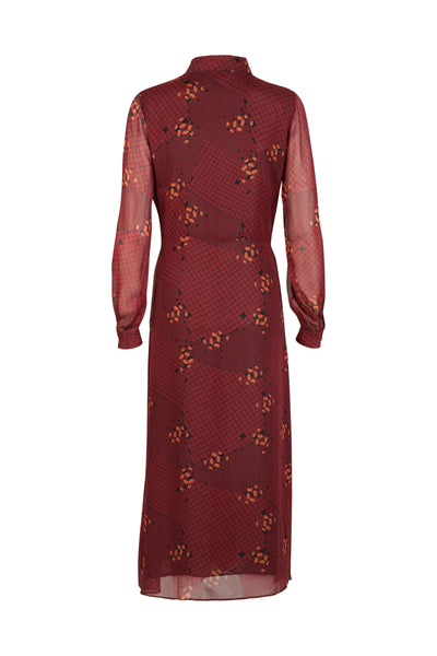 Alicia Dress Mahogany Print