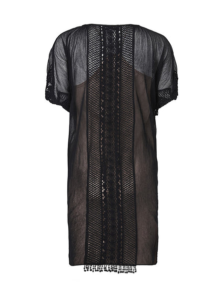 Alma Lace Dress Black
