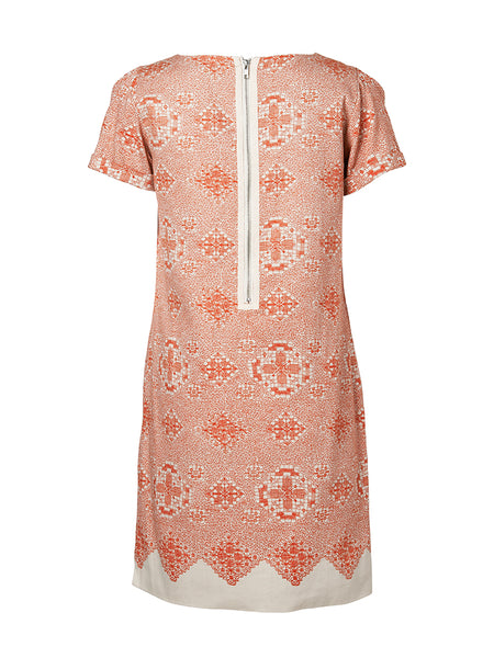 Anna Printed Dress Mandarin