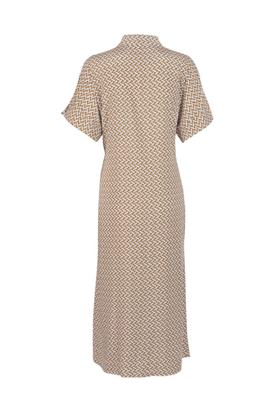Annie Dress Bronze Print