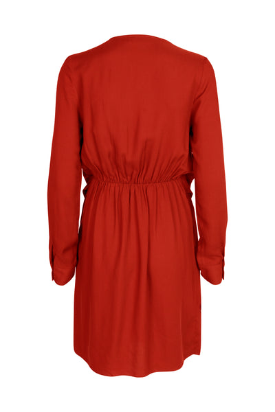 Caroline Dress Autumn Red