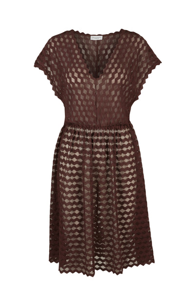 Celia lace dress wine