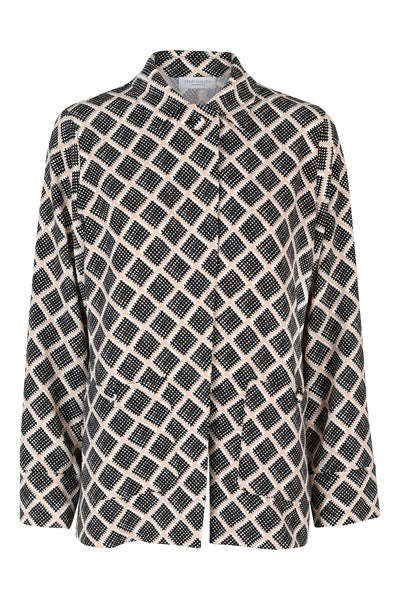 Chrissie Black Print Jacket