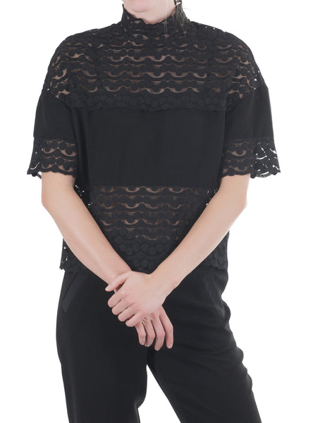Corinne top black