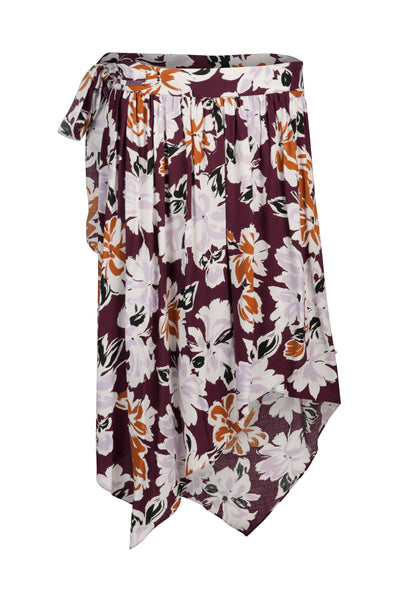 Maurice skirt Wine Print