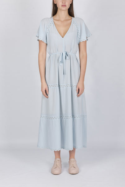 Athene silk dress ice blue