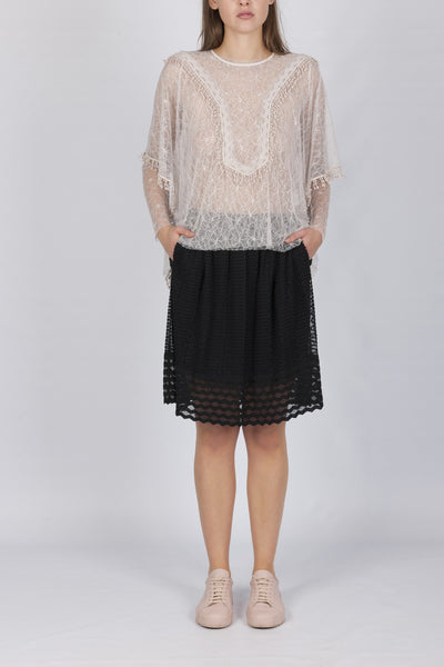 Elisa lace top black