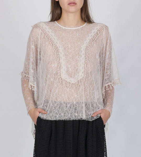 Elisa lace top oyster