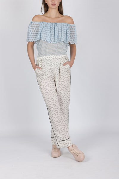 Mariella lace top ice blue