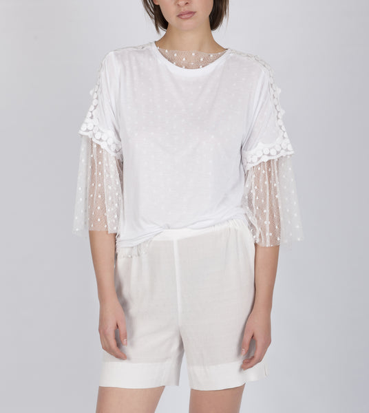 Kara lace top white