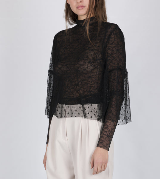Kara lace top black