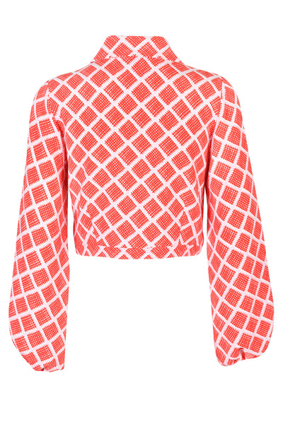 Emmy Fiery Red Print Shirt