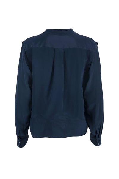 Fantine silk shirt midnight