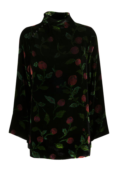 Freja velvet top ruby