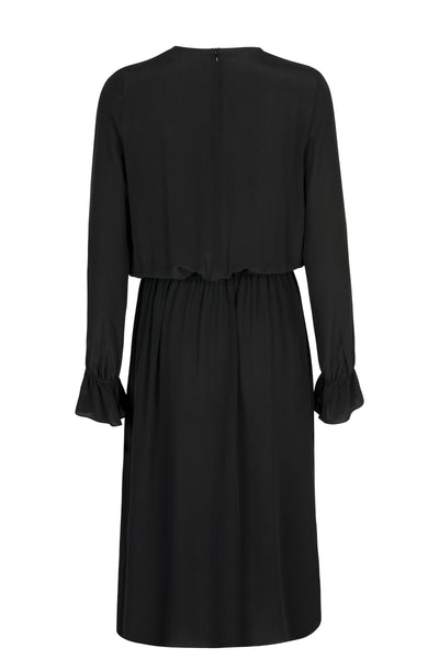 Gina silk dress black