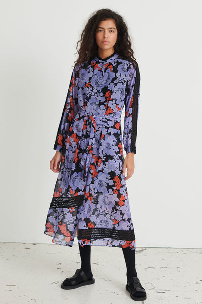 Gabie Black Print Dress