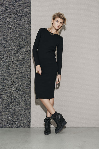Sandie knit dress black