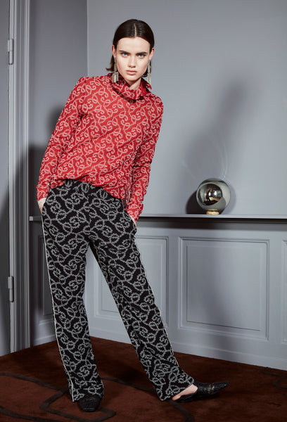 Milla pants black print