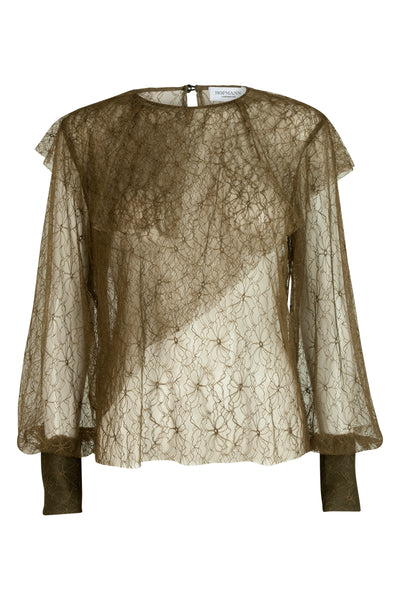 Joelle Lace Top Olive
