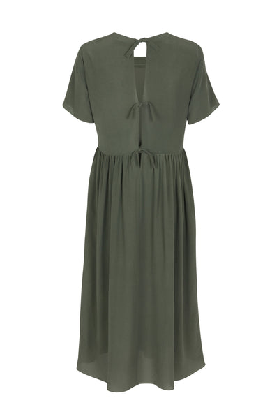 Juliette silk dress moss