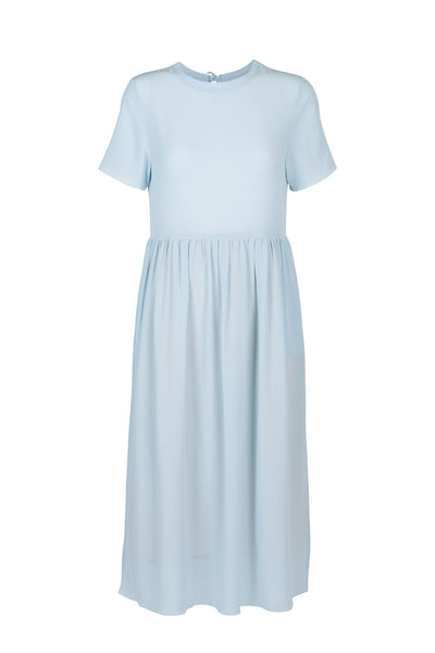 Juliette silk dress ice blue