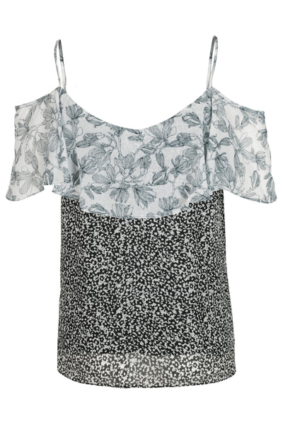 Janine Top Black Print