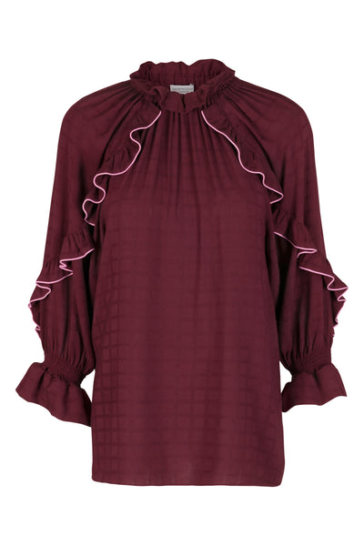 Julianna Blouse Aubergine