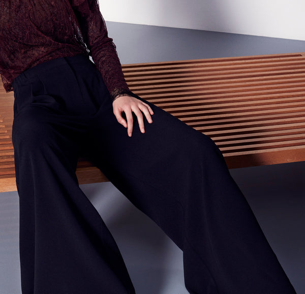 Gilda wide pants black