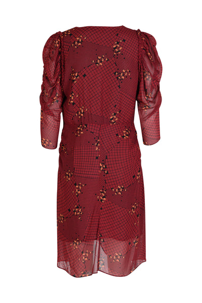 Lea Dress Mahogany Print