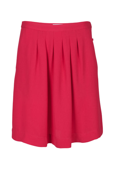 Manonti crepe skirt dark coral