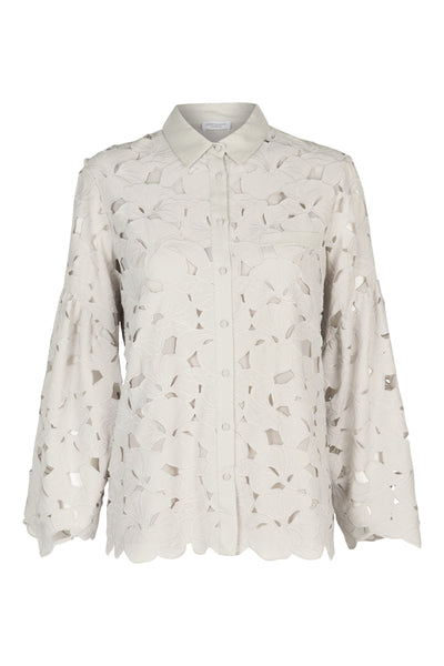 Maria lace shirt mineral