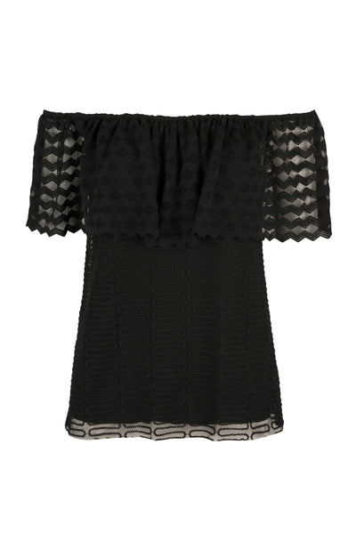 Mariella lace top black