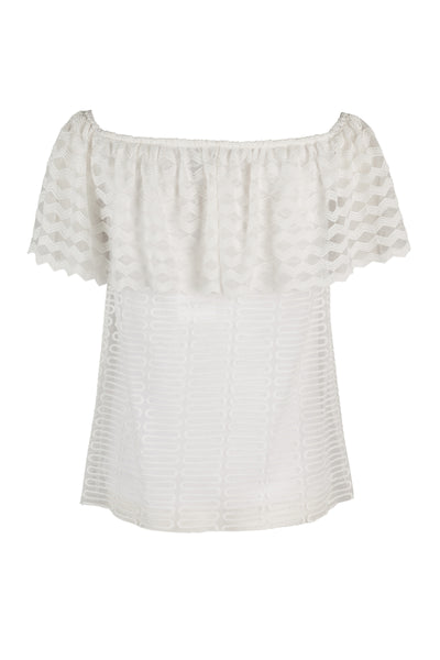 Mariella lace top white