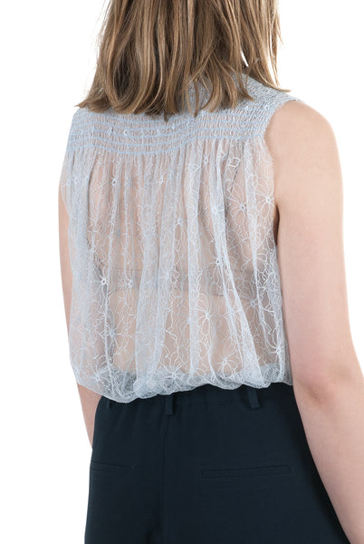 Marie lace top ice blue