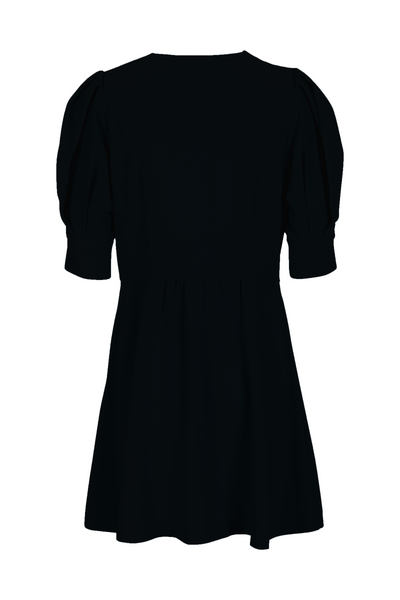 Maria Dress Black / Oyster Piping