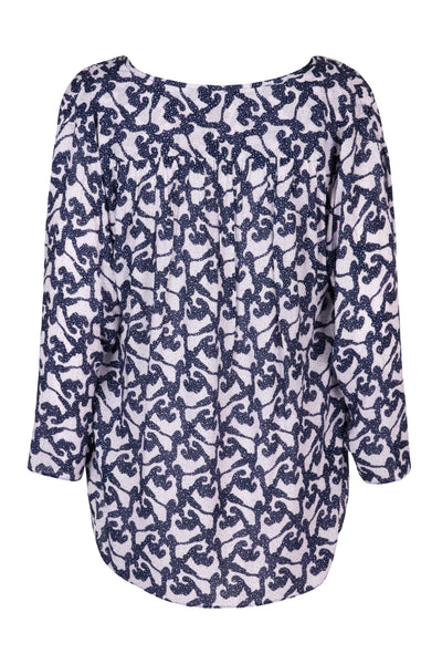 Naomi shirt midnight print