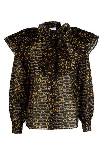Nellie golden hour print blouse
