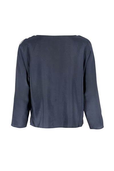 Pauline silk blouse midnight
