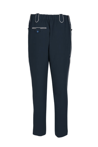 Romaine crepe pants midnight