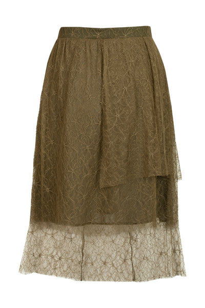 Romie Lace Skirt Olive