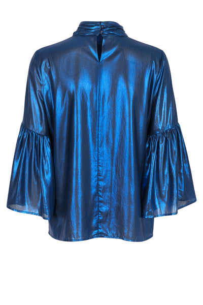 Rosa top electric blue