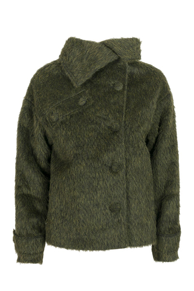 Sabine Short Coat Olive