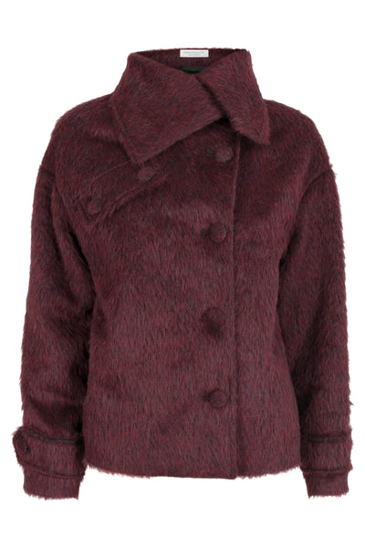 Sabine Short Coat Wine