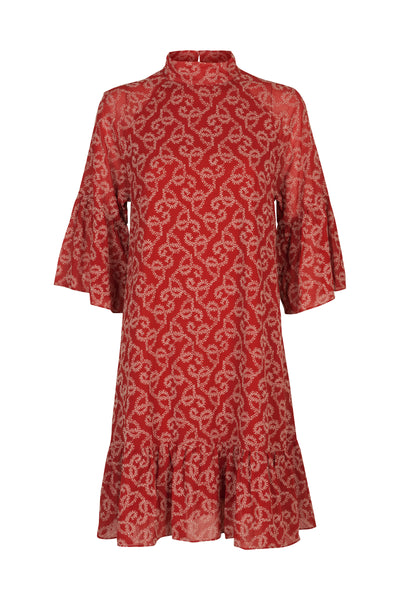 Sia Dress Autumn Red