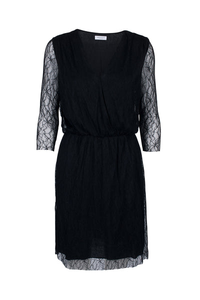 Sirena lace dress black