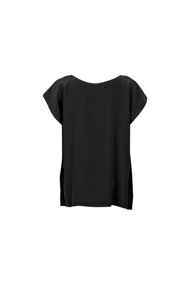 Tessia silk top black