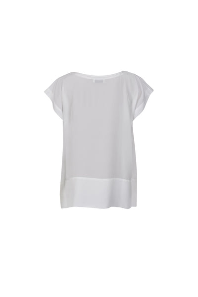 Tessia silk top white
