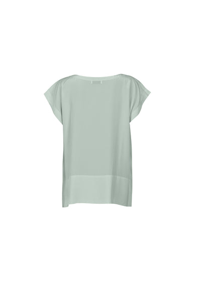 Tessia silk top pure mint