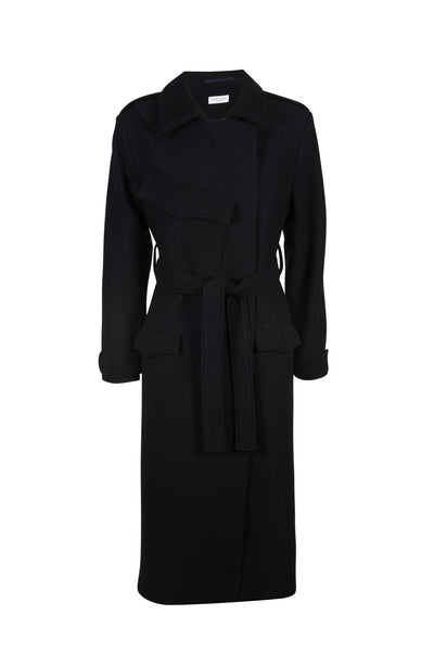 Tilly wool trench coat black