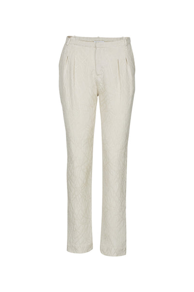 Tina silk pants creme